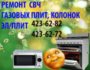 Ремонт СВЧ, газ/эл. плит,  газ. колонок